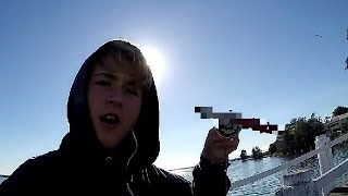 Guy finds knife while magnet fishing....