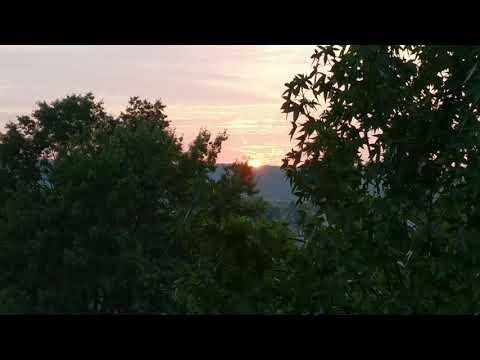 Sun set in Cockeysville, Maryland, USA