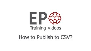 How to Publish to CSV?