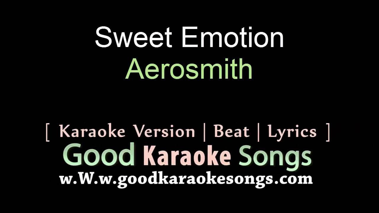 Sweet Emotion Aerosmith Lyrics Karaoke