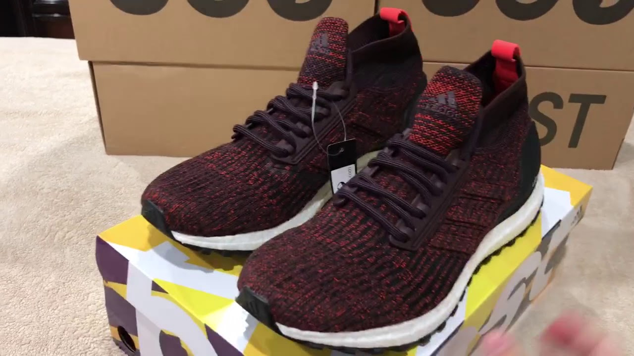 6ea4e6fd3eb Adidas Ultra Boost Mid ATR Burgundy Review - YouTube