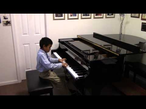 Eric Zhang Lawrence(age 7) Plays Piano Puck Op. 71. No.3 By Edvard Grieg