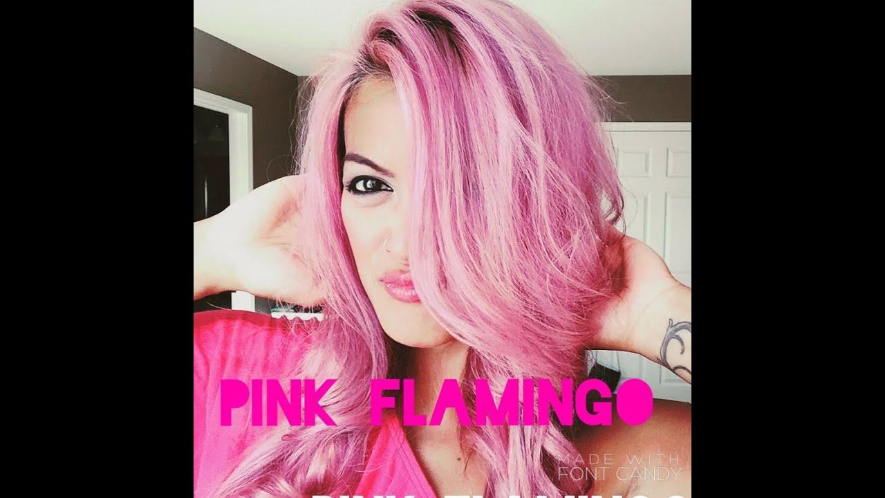 Pink Flamingo Hair Tutorial - YouTube
