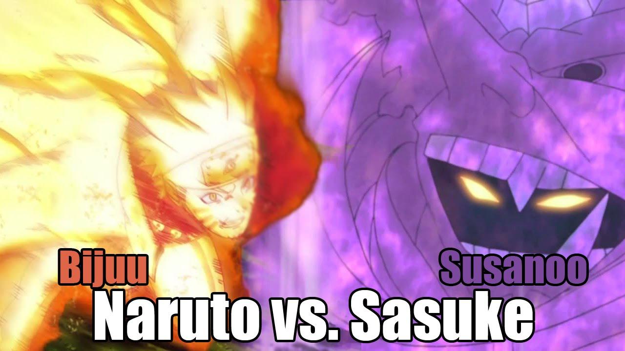 Bijuu Mode Vs Susanoo Naruto STORM Revolutio...