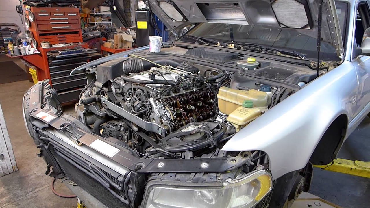 small resolution of 2000 audi a8 l timing belt and timing chain tensioner replacement2000 audi a8 l timing belt