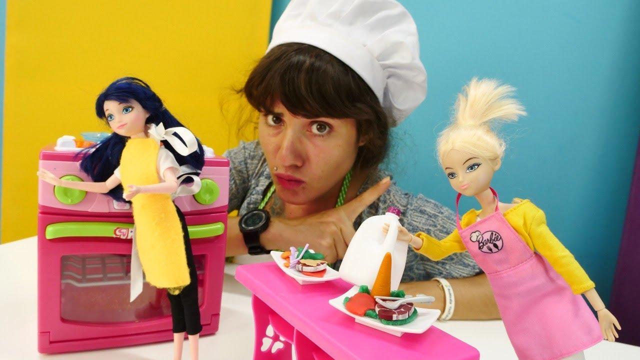 Download Kız videoları - Marinette ve Cloe yemek yarışması! Yemek yapma mutfak oyunları