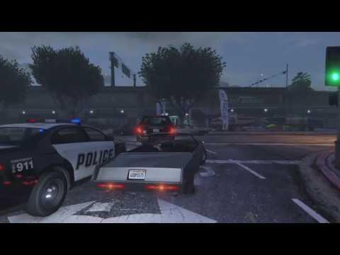 GTA5 - live stream (no HUD) - free roam police chase random NPC chaos