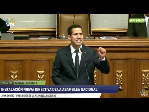 Discurso completo de Juan Guaidó, nuevo presidente de la Asamblea Nacional de Venezuela - 01/05/2018