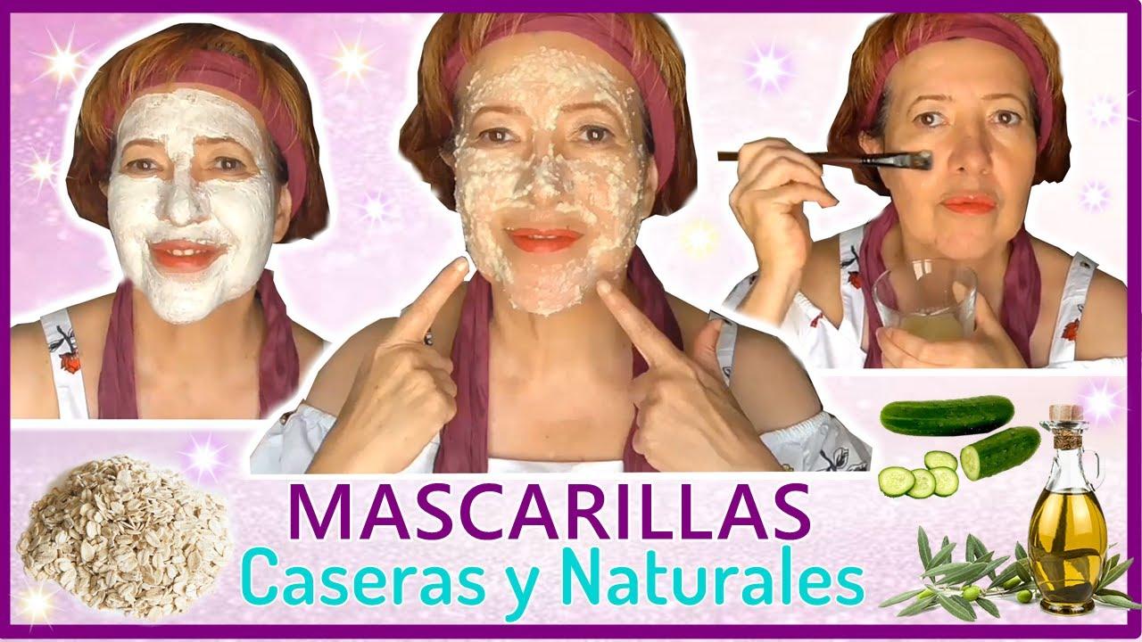 3 MASCARILLAS  Caseras HIDRATANTES  para  la piel DELICADA / Repara la piel DAÑADA