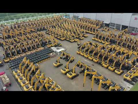 Excavator production of Sany Group in Shanghai
