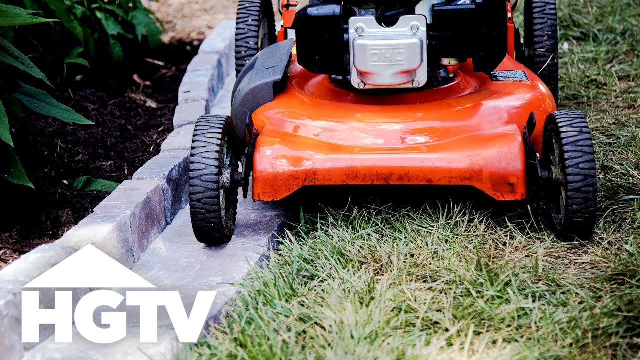 Easy Diy Paver Edging Hgtv Youtube