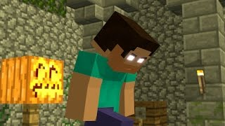herobrine life story part 2 white eyes minecraft animation