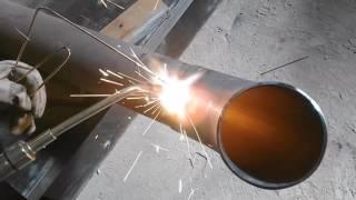 Grześ (DEMON) spawanie gazowe rury Ø 100/Grzes (DEMON) gas welding pipe Ø 100
