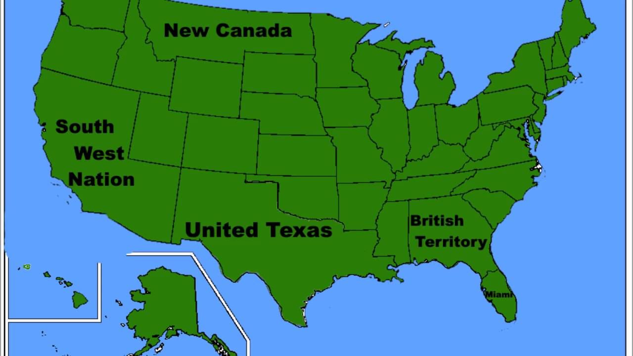 Alternative Future Of North America Part I YouTube - Future map of north america