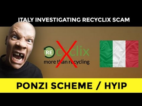 RECYCLIX SCAM BANNED IN ITALY! GOOBYE SCAMMERS...