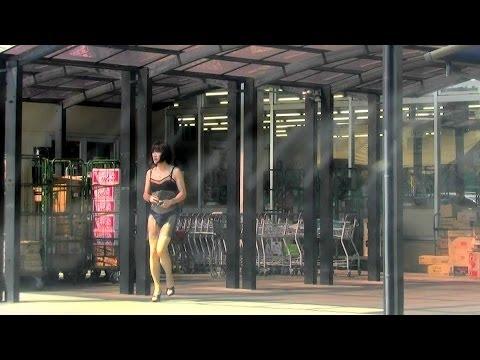 T Girl Emma in corset rubber dress and thigh high bootsиз YouTube · Длительность: 1 мин14 с