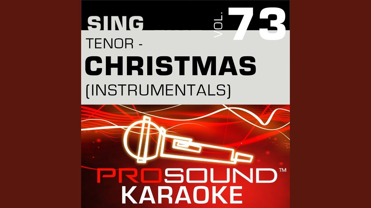 white christmas karaoke instrumental track in the style of bing crosby
