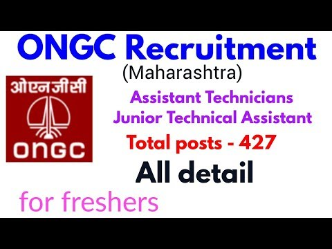 ONGC RECRUITMENT 2018-19 Total posts -427