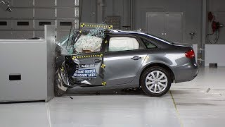 2012 Audi A4 driver-side small overlap IIHS crash test
