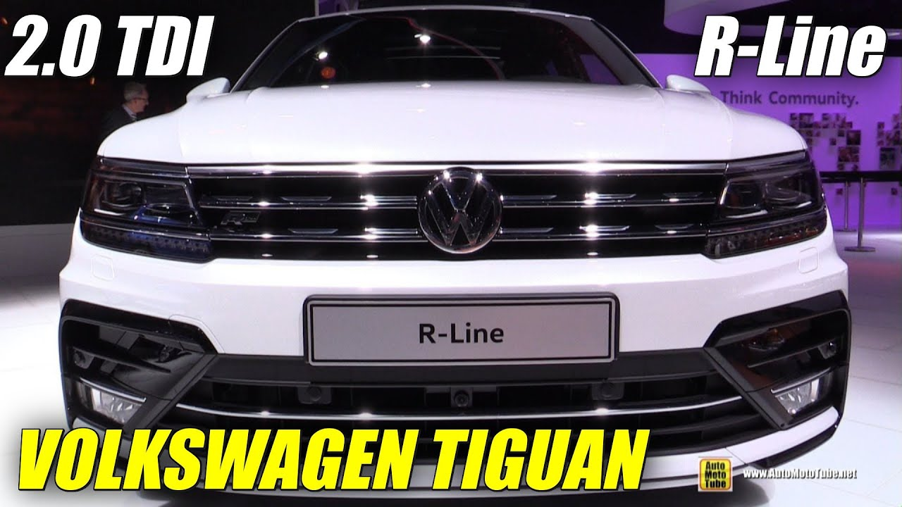 2017 Volkswagen Tiguan R Line Start Up, Drive, In Depth Review .