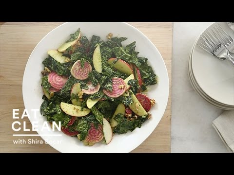 Tuscan Kale Salad with Raw Apples and Beets - Eat Clean with Shira Bocar
