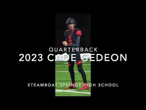 Cade Gedeon: Freshman Football Highlights at Steamboat Springs High School