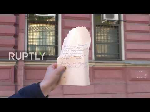 Russia: Neighbours of US Consulate in St. Petersburg leave farewell letters as staffers pack