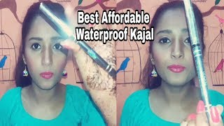 Best Affordable waterproof kajal in India |  Review and Demo |# Style High