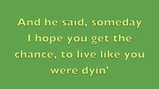 Tim McGraw & Scotty McCreery - Live Like You Were Dying w/lyrics