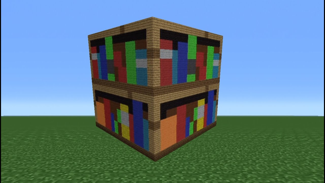 minecraft tutorial: how to make a bookshelf statue - youtube