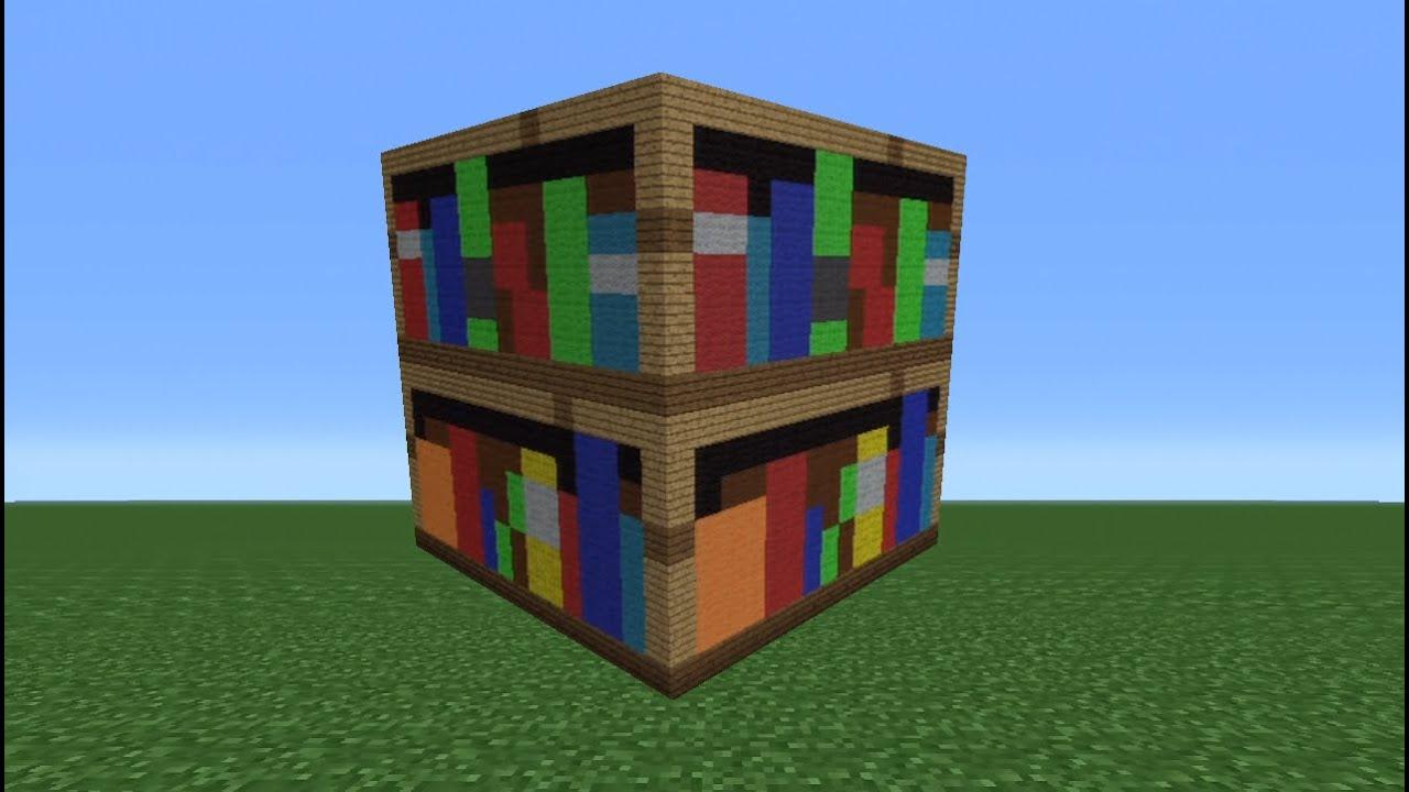 Minecraft Tutorial How To Make A Bookshelf Statue Youtube