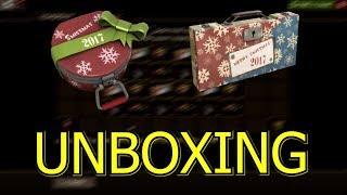 TF2: Unboxing Smissmas Winter 2017 Cosmetic Cases and Winter 2017 War Paint Cases >Team Fortress 2<
