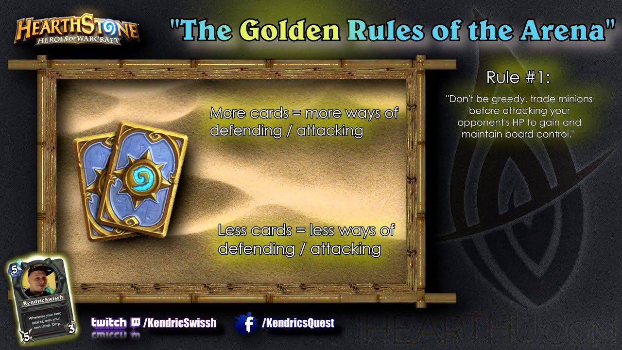 Hearthstone Tips: The Golden Rules of Hearthstone's Arena - YouTube