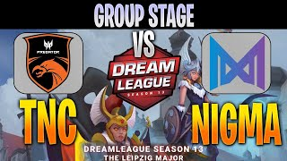TNC Predator vs Nigma | Bo3 | Group Stage Dream League 13 The Leipzig Major LIVE | NO CASTER
