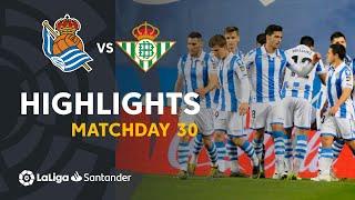 Highlights Real Sociedad vs Real Betis (2-1)