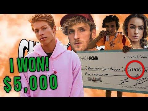 I WON $5,000 AT LOGAN PAULS CHALLENGER GAMES!!