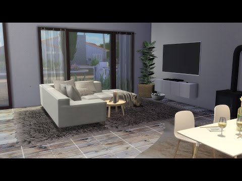 The Sims 4 speed decorating a little family house.