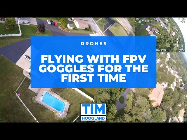 Flying with FPV Goggles for the First Time | Drones