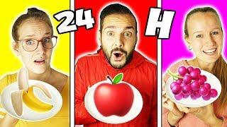 24 Stunden die FARBE ESSEN DIE MAN TRÄGT Challenge - Nina, Kaan & Kathi machen 1 Tag einfarbige Diät