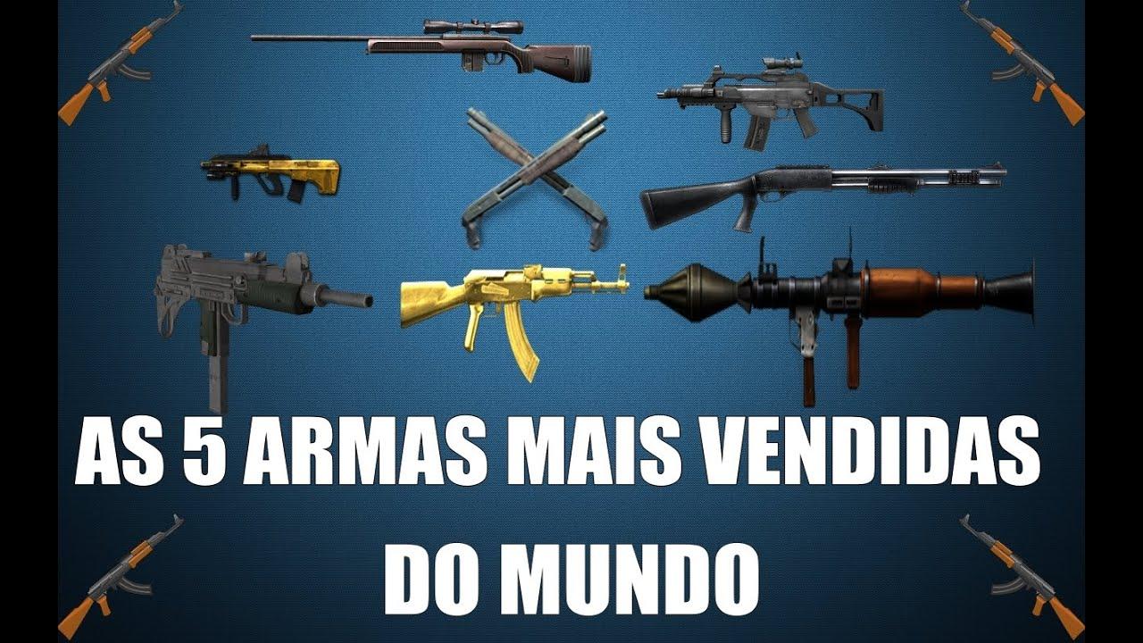 Resultado de imagem para armas mais vendidas