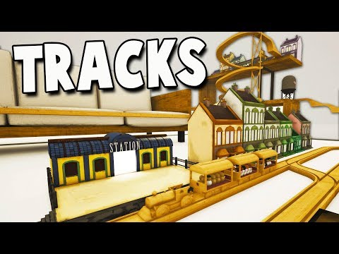 AMAZING TRAIN TRACKS!  Stunt Train Returns! Tracks New Update Gameplay - Passenger Cars!