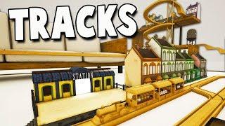AMAZING TRAIN TRACKS!  Stunt Train Returns! Tracks New Update Gameplay - Passenger Cars!