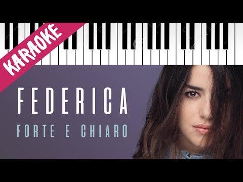 Federica Carta | Forte e Chiaro | AMICI 16 | Piano Karaoke con Testo