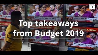 Budget 2019: top takeaways