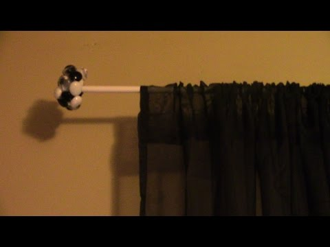 DIY Curtain Rods Using Dollar Store Gems