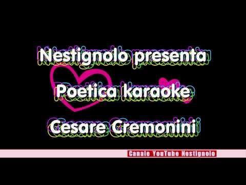 Poetica karaoke Cesare Cremonini
