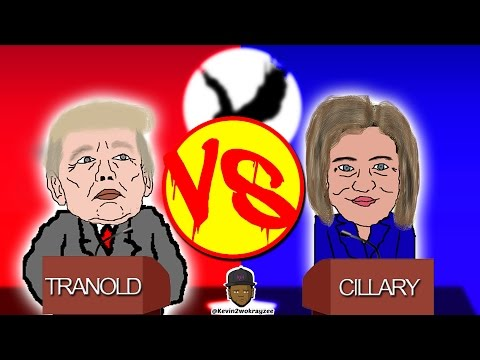 Donald Trump vs Hillary Clinton [Jamaican Cartoon]