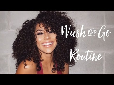 Wash And Go Curly Hair Routine LOC Method | 3b Curls