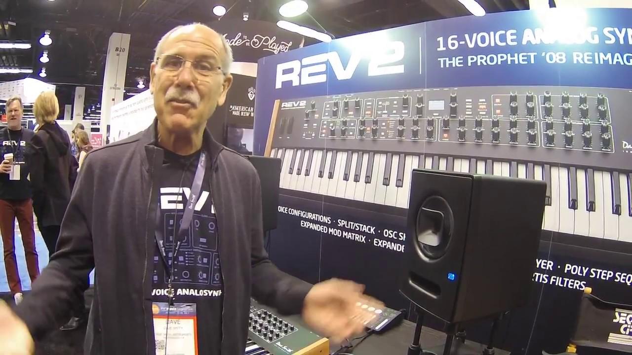 namm 2017 dave smith instruments prophet rev2 8 16 voice analog synth youtube. Black Bedroom Furniture Sets. Home Design Ideas