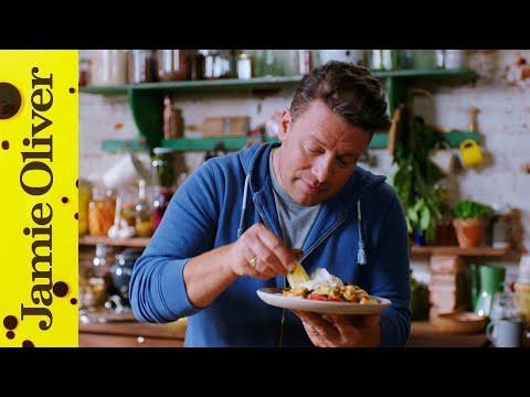 Roast Pepper, Prawn & Chorizo Bake   Keep Cooking Family Favourites   Jamie Oliver